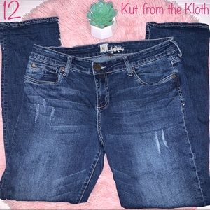 Kut from the Kloth Distressed Jeans, Size 12